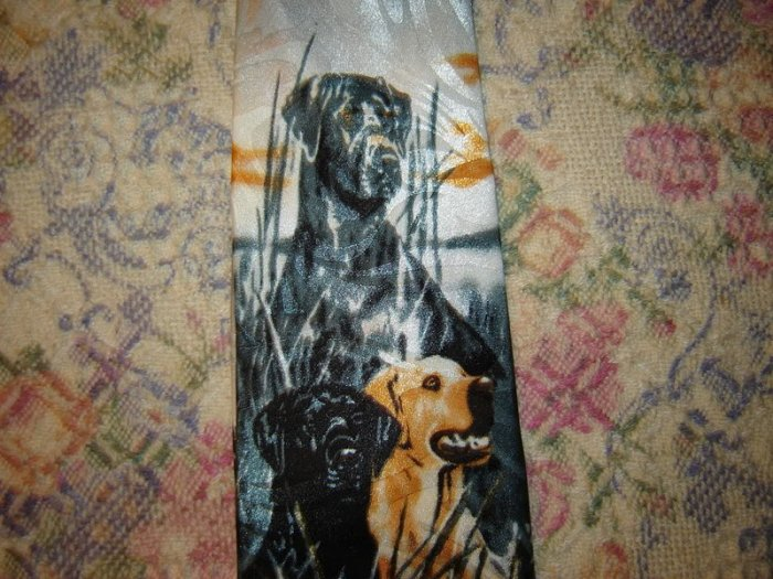 Mens Dog Theme Tie Necktie Unworn
