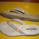 Womens Minnetonka Beaded Thong Sandals 7