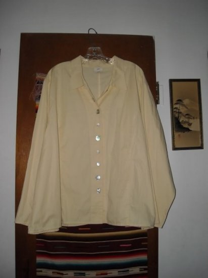 Womens J Jill 4X Yellow Shirt