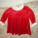 All Mine Red Fake Fur Santa Christmas Dress 24 M