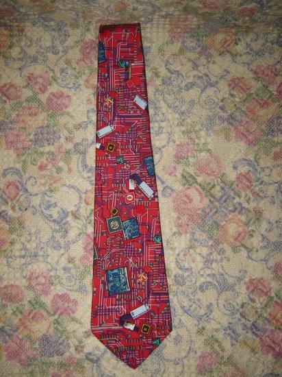Smithsonian Institution Circuit Board Silk Tie Necktie