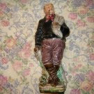 Vintage European Majolica Figural Fisherman Decanter