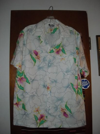 Womens Hilo Hattie Cotton Floral Shirt L