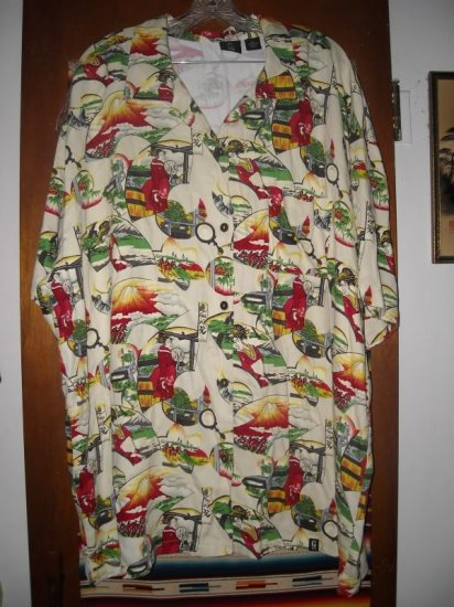 Womens Asian Themed Guess Shirt 2XL