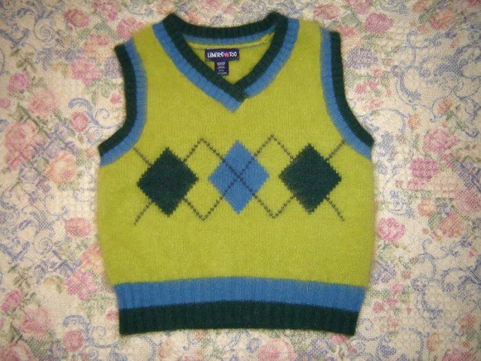 Girls Limited Too Argyle Angora Sweater Vest S 10