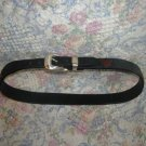 Womens Brighton Mickey Mouse Black Leather Belt 32