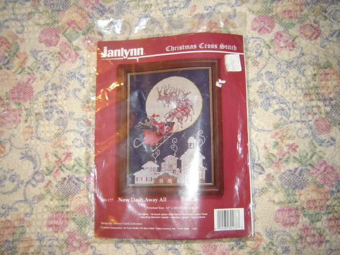 Now Dash Away All Christmas Cross Stitch Kit  Sealed