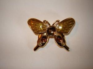 Monet Butterfly Pin Enamel Jewels Earth Tones