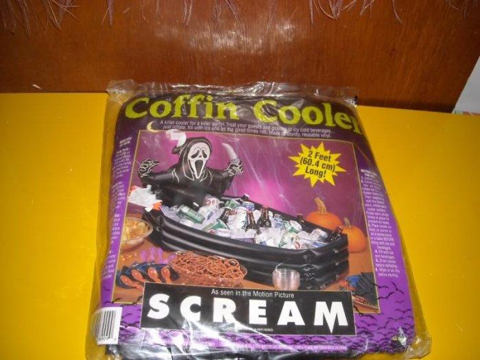 Scream Inflatable Coffin Cooler Halloween
