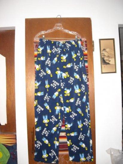 Mens The Simpsons Fleece Pants L Homer I am so Smart