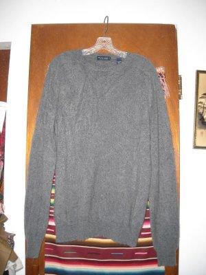 Mens Grant Thomas Gray Cashmere Sweater L