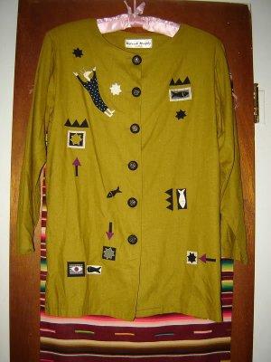 Womens Deborah Murphy Designs Boutique Artsy Jacket S M