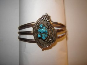 Vintage Seafoam Turquoise Bracelet