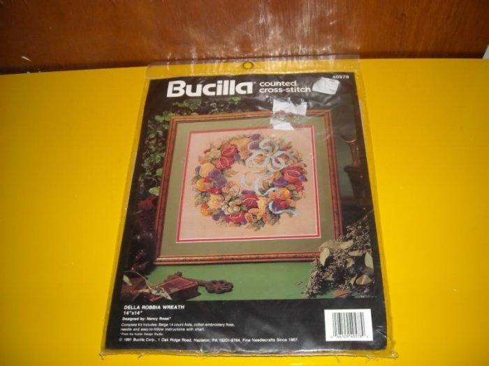 Bucilla Della Robbia Wreath Counted Cross Stitch Kit
