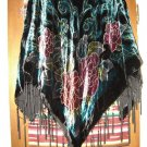 Womens Coldwater Creek Embellished Velvet Poncho