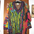 Mens Coogi Colorful Gambling Theme Cotton Sweater M