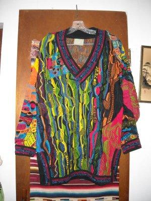 Mens Coogi Colorful Gambling Theme Cotton Sweater M