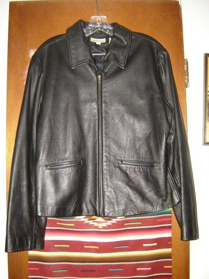 Womens Ann Taylor Black Leather Jacket L