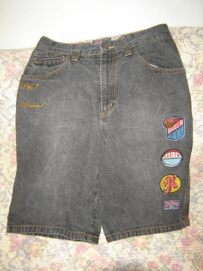 Boys 18 Platinum Fubu Harlem Globetrotters Long Shorts