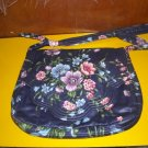 Navy Blue Floral Fabric Bag Shoulderbag