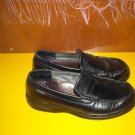 Mens Mephisto Black Leather Loafers 8