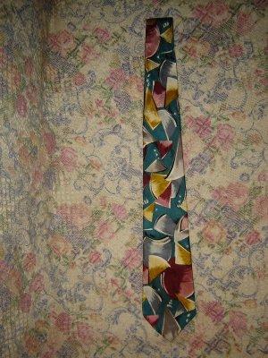 Mens Hardy Amies Abstract Retro Silk Tie Necktie