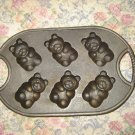 Cast Iron Teddy Bear Mold Soap Beeswax Ornaments
