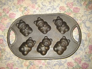 Cast Iron Teddy Bear Mold Soap Beeswax Ornaments