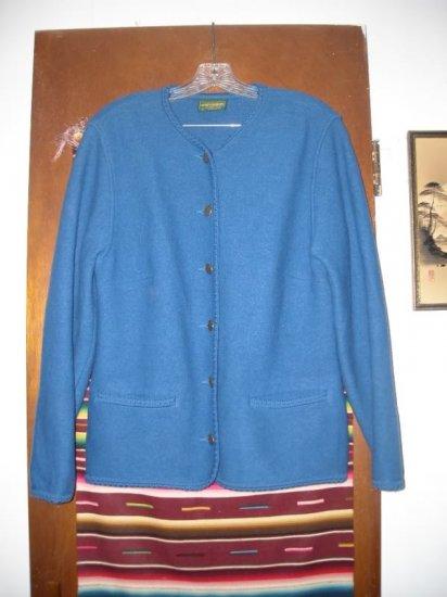 Womens Geiger Blue Wool Jacket 40