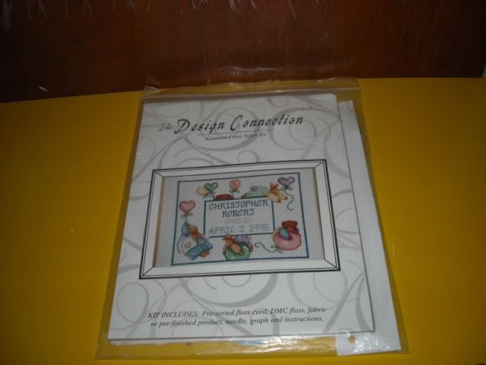 Baby Birth Balloon Sampler Counted Cross Stitch Kit