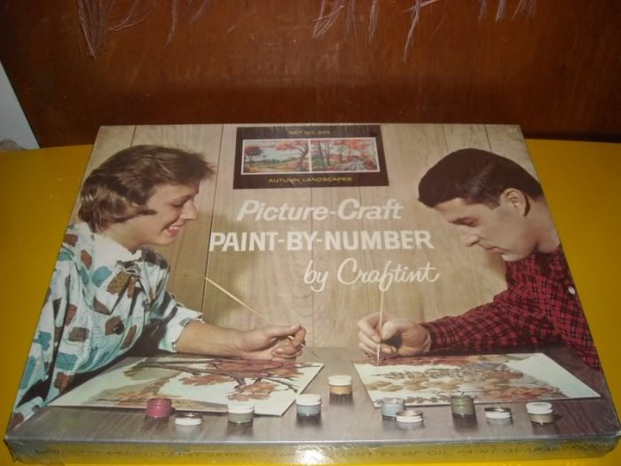 Vintage Paint by Number Kit Craftint Autumn Landscapes