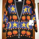 Marisa Christina Halloween Pumpkin Cardigan Sweater XL
