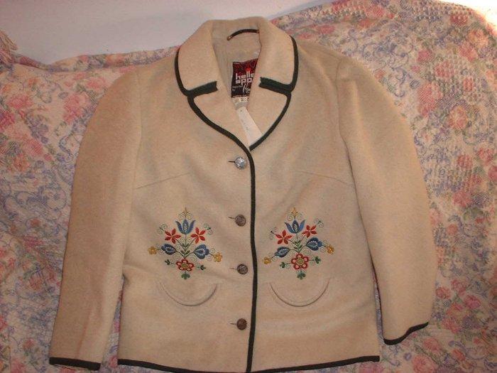 Womens Vintage Heller Sport Wool Mohair Loden Jacket S