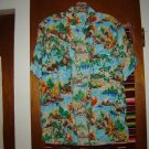 Mens Vintage Made in Japan Colorful Hawaiian Shirt S