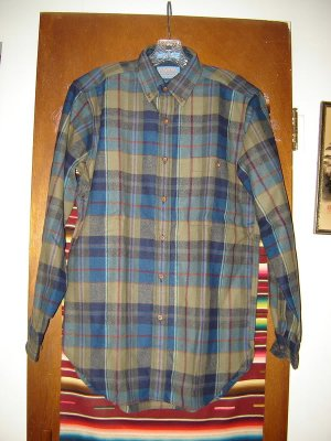 Mens Pendleton Wool Shirt S Small Earth Tones