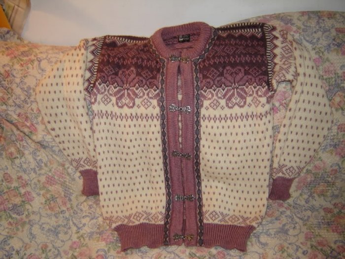 Womens Dale of Norway Cardigan Sweater S Pewter Clasps