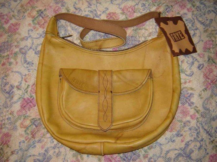 Vintage Frye Brand Leather Shoulder Bag Purse