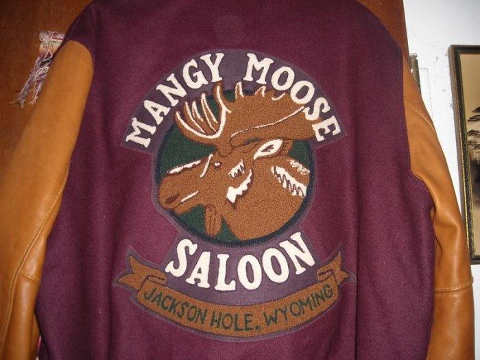 Mens Mangy Moose Saloon Wyoming Jacket M Wool Leather