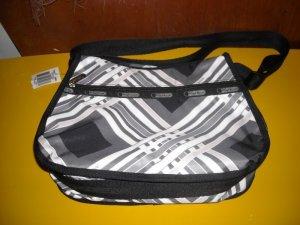 LeSportsac Hypnotic Black Classic Hobo Bag Purse
