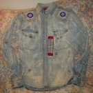 Womens Western Denim Bank Beaded Denim Shirt S New NWT