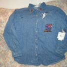 Womens Bill Blass Denim Halloween Shirt L New NWT