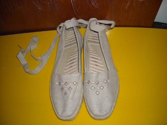 Womens Espadrilles 8 M Neutral Summer Shoes