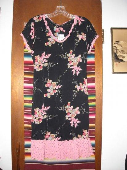 Zoe California Asian Floral Ruffled Dress XS