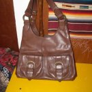 Banana Republic Somerset Triangle Bag Dark Walnut