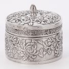 Rare Antique Chinese Export Chrysanthemum Silver box