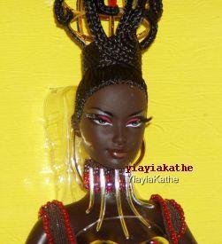 """TANO"" TREASURES OF AFRICA BARBIE 2005 BRYON LARS African Doll MNRFB GOLD Label"