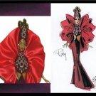 Bob Mackie RUBY RADIANCE AA Barbie Black Jewel Essence