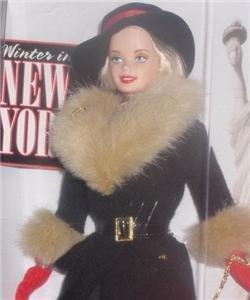 1997 NEW IN BOX City Seasons WINTER IN NEW YORK Barbie Beautiful Fashion