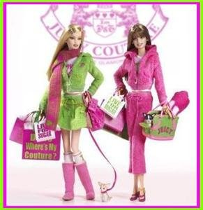 JUICY COUTURE GOLD LABEL Barbie 2004 2 DOLL  *RARE* 1st FIRST P & G FASHION SET