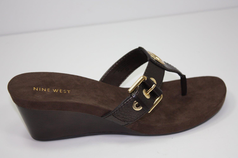 Nine West Levehim Sandals Brown Shoes US 8.5 $69